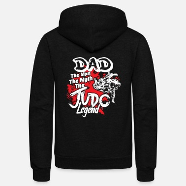 Judo DAD THE JUDO LEGEND SHIRT - Unisex Fleece Zip Hoodie