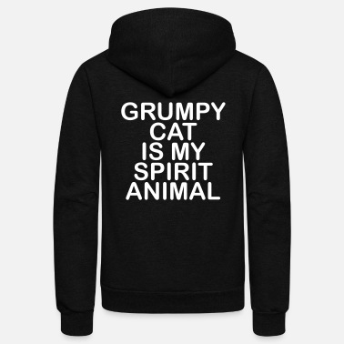 Animal Grumpy Cat - Unisex Fleece Zip Hoodie