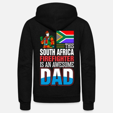 South Africa This South Africa Firefighter is An Awesome Dad - Unisex Fleece Zip Hoodie