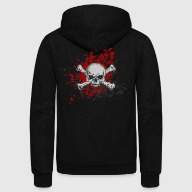 Blood Stains blood stain skull - Unisex Fleece Zip Hoodie