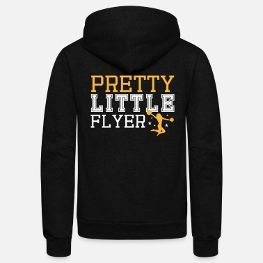 Little Pretty Little Flyer Cheerleading Dance Pompons - Unisex Fleece Zip Hoodie