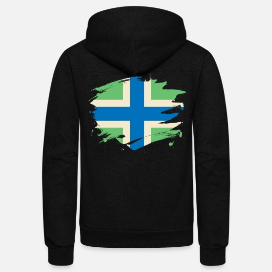 Patriot Hoodies & Sweatshirts - Severn Flag Paint Splatter Design - Unisex Fleece Zip Hoodie black
