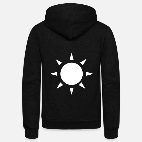 Sun Hoodies & Sweatshirts - Simple Sun - Unisex Fleece Zip Hoodie black