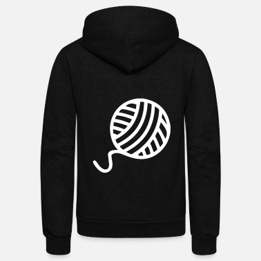 Wool Ball Of Wool - Unisex Fleece Zip Hoodie