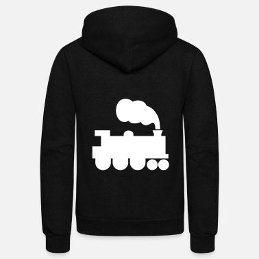 Steam Engine Steam Engine In Motion - Unisex Fleece Zip Hoodie