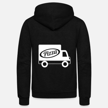 Traffic Pizza Delivery Truck - Unisex Fleece Zip Hoodie