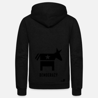 Democracy Democracy - Unisex Fleece Zip Hoodie