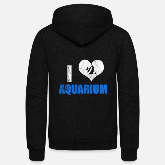 Aquarium Hoodies & Sweatshirts - Aquarium addict - Unisex Fleece Zip Hoodie black