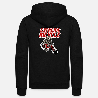 Internet Extreme Bicycle - Unisex Fleece Zip Hoodie