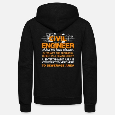 Civil Engineering CIVIL ENGINEER SHIRT - Unisex Fleece Zip Hoodie