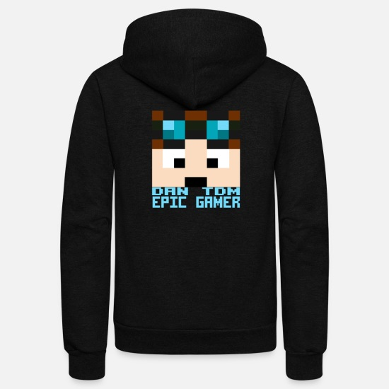 Gamer Hoodies & Sweatshirts - DAN TDM Epic Gamer - Unisex Fleece Zip Hoodie black