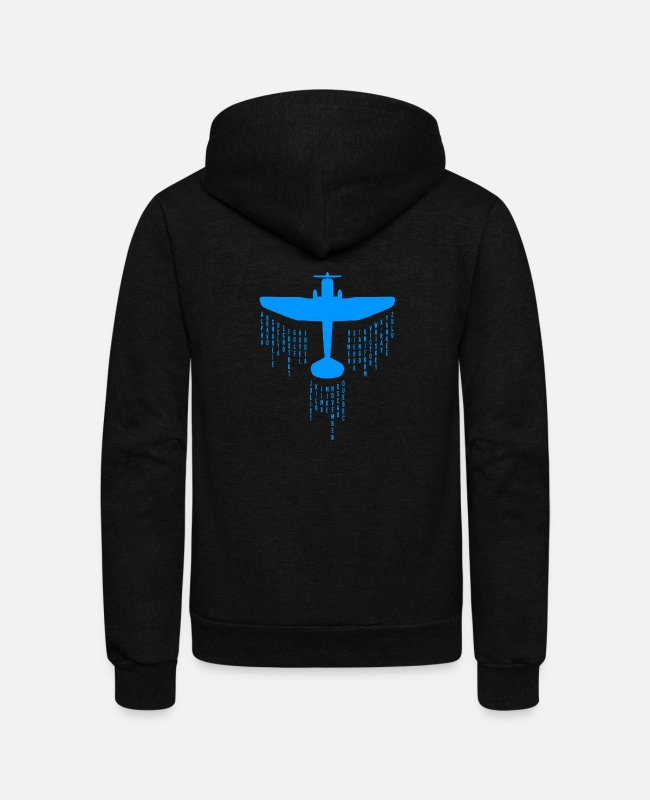 Alphabet Hoodies & Sweatshirts - pilot phonetic alphabet merch - Unisex Fleece Zip Hoodie black
