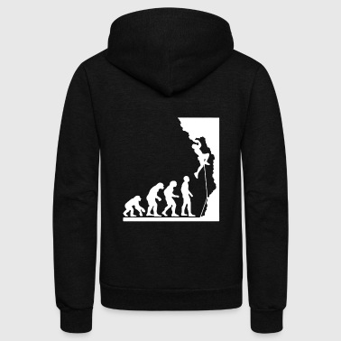 Rock Climbing Evolution Shirt - Unisex Fleece Zip Hoodie