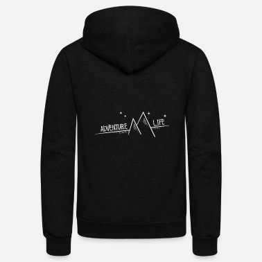 Man Adventure Life - Mountains and good vibes - Unisex Fleece Zip Hoodie