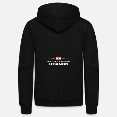 Lebanon trust me i from proud gift LEBANON - Unisex Fleece Zip Hoodie