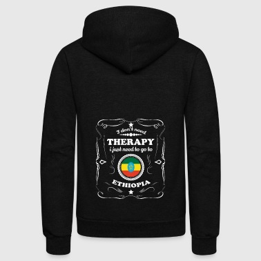 DON T NEED THERAPIE WANT GO ETHIOPIA - Unisex Fleece Zip Hoodie