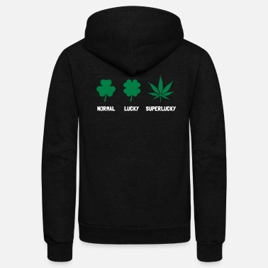 Hemp Cannabis / Hemp / Shamrock - Super Lucky mode - Unisex Fleece Zip Hoodie