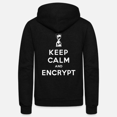 Wikileaks Keep calm and Encrypt - Unisex Fleece Zip Hoodie