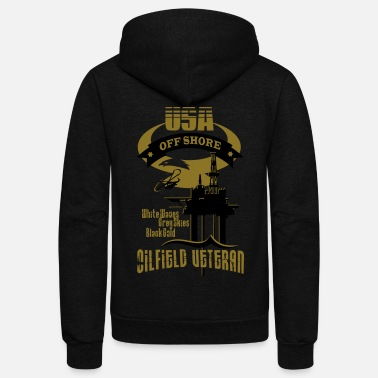 Oil Rig USA Oilfield Veteran - Unisex Fleece Zip Hoodie