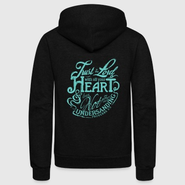 Godly - Godly I Lean Not On Your Own Understandi - Unisex Fleece Zip Hoodie
