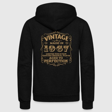 1967 - 50th Birthday Vintage Made In 1967 - Unisex Fleece Zip Hoodie