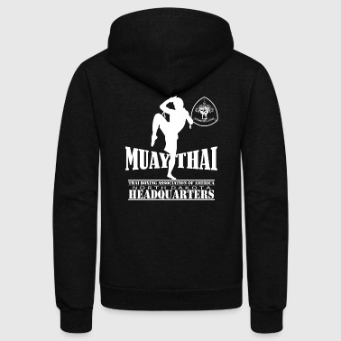Muay Thai kickboxing T - shirt - Unisex Fleece Zip Hoodie