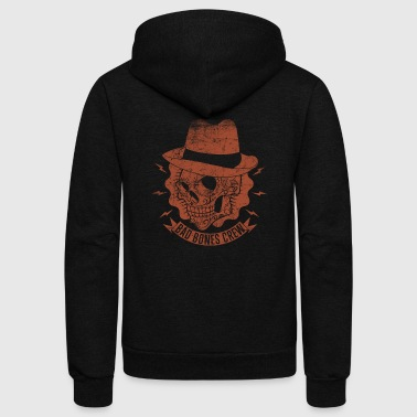 Style rockabilly skull hat - Unisex Fleece Zip Hoodie