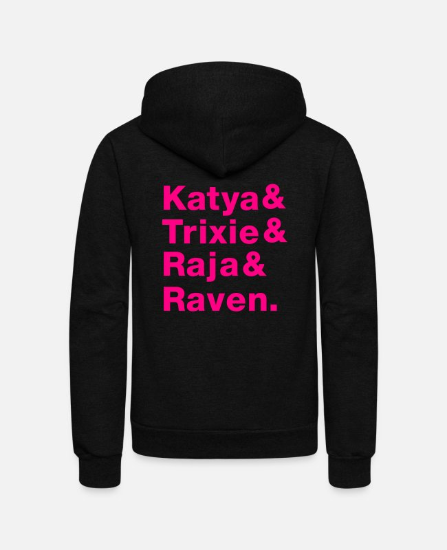 Raja Hoodies & Sweatshirts - DRAG SQUAD - Unisex Fleece Zip Hoodie black