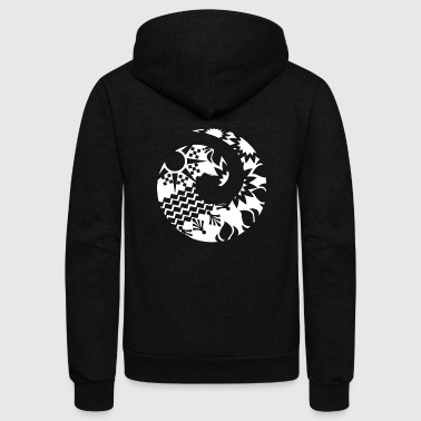 Maori Maori Wave Koru Tattoo Tribal Shapes - Gift Idea - Unisex Fleece Zip Hoodie