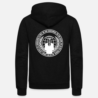 Anonymous Anonymous - anonymous - guy fawkes - we are ano - Unisex Fleece Zip Hoodie