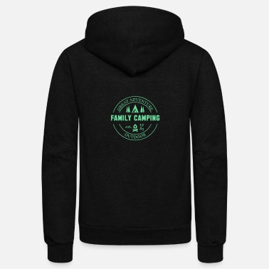 Excursion Family Excursion Hiking Camping Family - Unisex Fleece Zip Hoodie