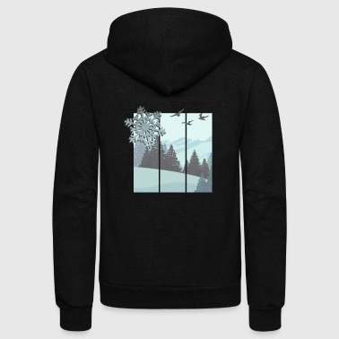 winter - Unisex Fleece Zip Hoodie