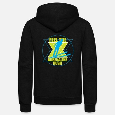 Feel Feel the Adrenaline Rush - Unisex Fleece Zip Hoodie