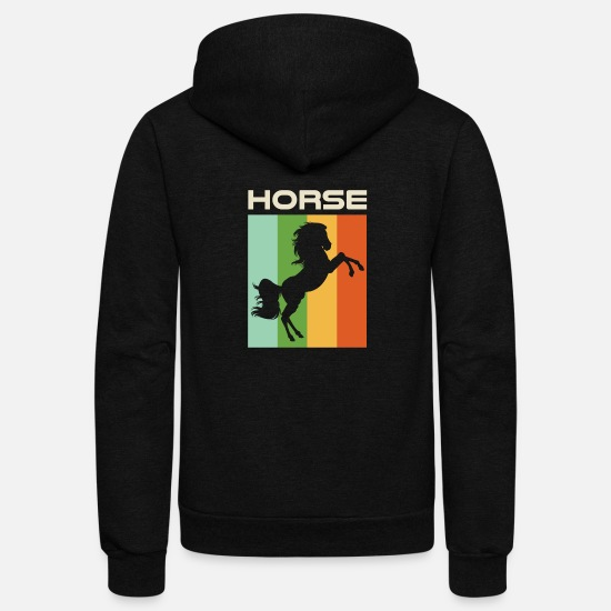 Horse Racing Hoodies & Sweatshirts - Horse - Unisex Fleece Zip Hoodie black