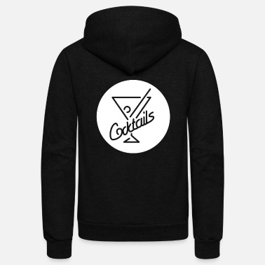 Coctails Coctails glasses button - Unisex Fleece Zip Hoodie