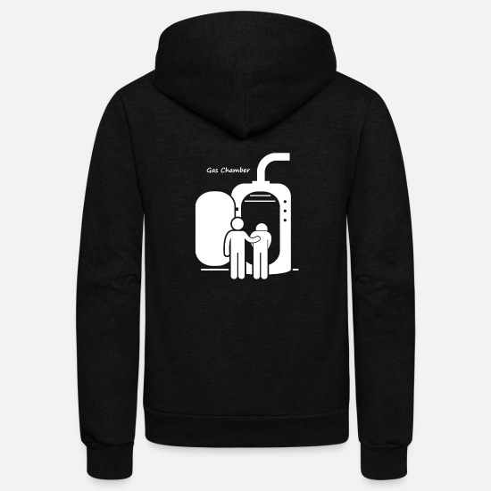 Gas Pump Hoodies & Sweatshirts - Death penalty by method gas chamber - Unisex Fleece Zip Hoodie black