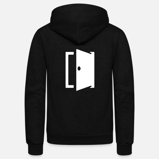 Attitude To Life Hoodies & Sweatshirts - Mind Attitude Identity Open Minded - Unisex Fleece Zip Hoodie black