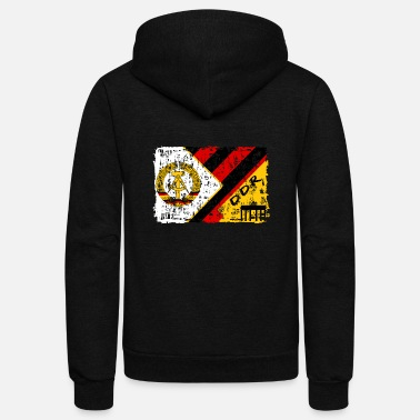 Germany GDR Vintage Design / Gift East Germany - Unisex Fleece Zip Hoodie