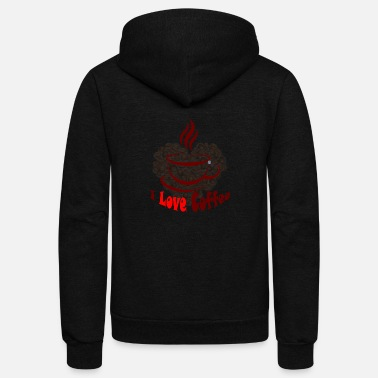 Love Coffee - Unisex Fleece Zip Hoodie