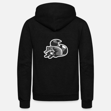 Funny Raccoon - Unisex Fleece Zip Hoodie
