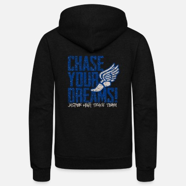 Chase Your Dreams Chase Your Dreams Jasper High Track Team - Unisex Fleece Zip Hoodie