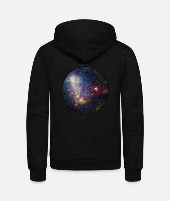 Space Hoodies & Sweatshirts - Galaxy - Space - Stars - Cosmic - Art - Universe - Unisex Fleece Zip Hoodie black