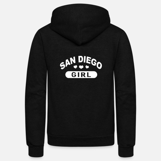 San Hoodies & Sweatshirts - San diego - Unisex Fleece Zip Hoodie black
