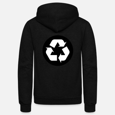 Recycle Logo Recycle Logo - Unisex Fleece Zip Hoodie