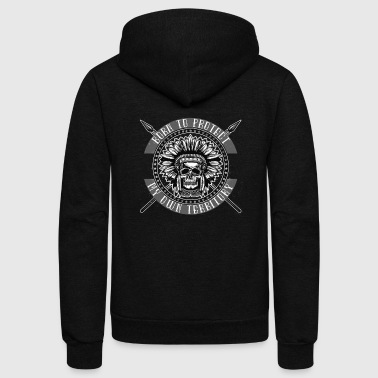 American native indian - Unisex Fleece Zip Hoodie