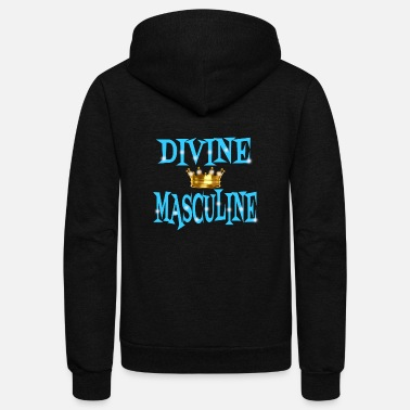 Couple Marriage Spiritual Divine Masculine - Unisex Fleece Zip Hoodie
