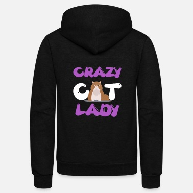 Cat Lady Cat lady - Crazy cat lady - Unisex Fleece Zip Hoodie