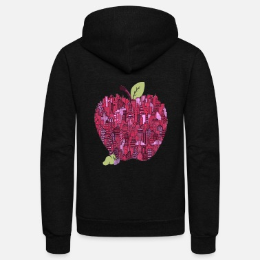Big Apple Little Worm Big Apple - Unisex Fleece Zip Hoodie