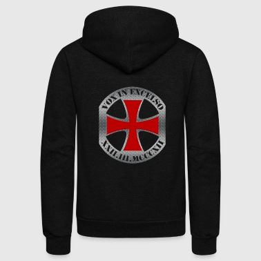 Templar Cross, Vox in Excelso - Unisex Fleece Zip Hoodie