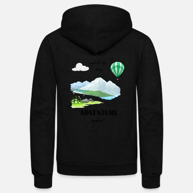 Adventure - Unisex Fleece Zip Hoodie